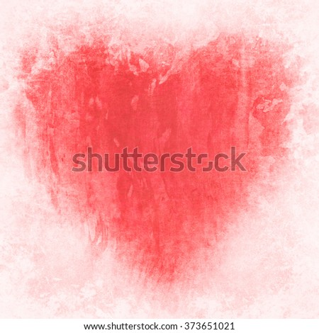 heart on old background texture - stock photo