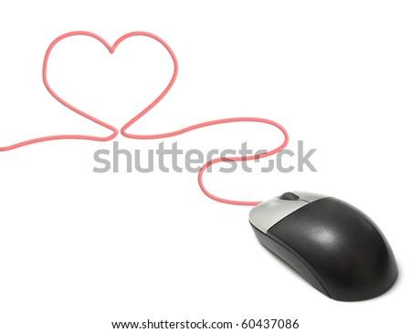 Heart online - stock photo