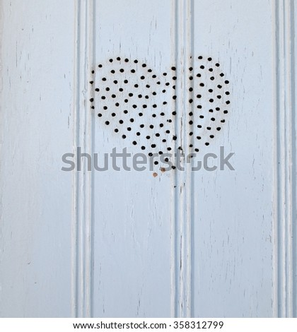 Heart Pattern in Wood - stock photo