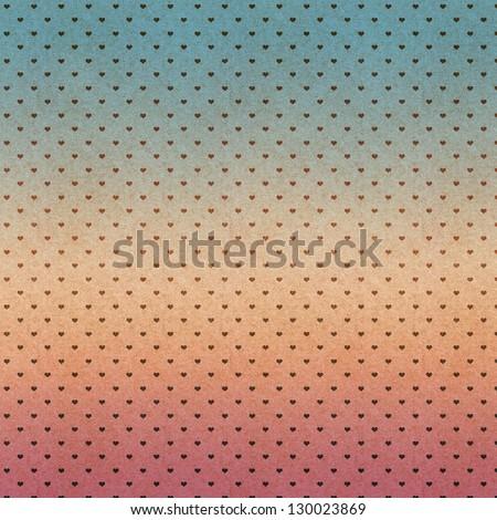 heart pattern vintage paper - stock photo