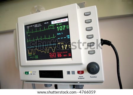 heart rate measuring equipment - pulse trace - stock photo