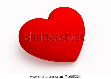 heart red - stock photo