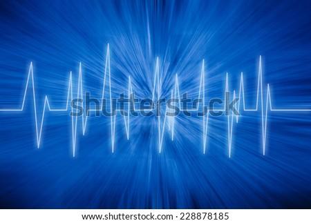 Heart rhythm  - stock photo