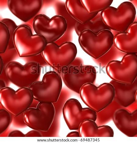 Heart Seamless - stock photo