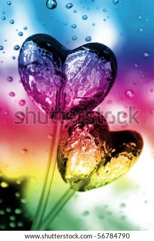 heart shape candy - stock photo