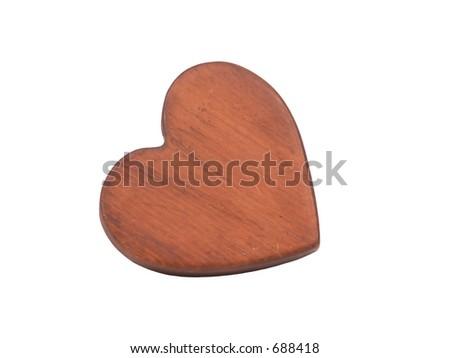 Heart shape cut of of wood. - stock photo
