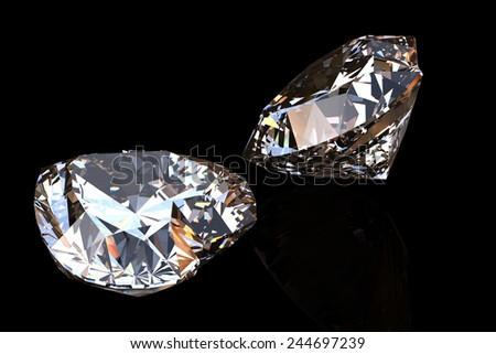 Heart shape gemstone. Collections of jewelry gems on black - stock photo
