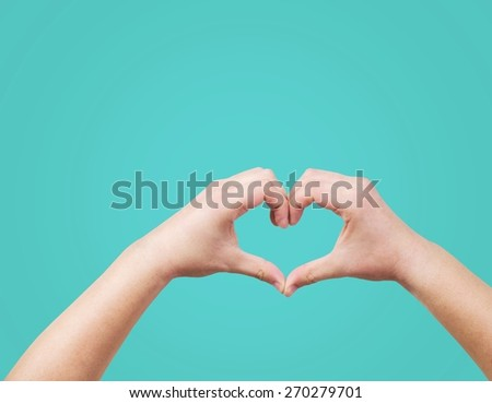 Heart Shape, Human Hand, Valentine's Day.