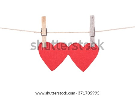 Heart shape isolated on a white background