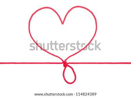 Heart shape rope - stock photo