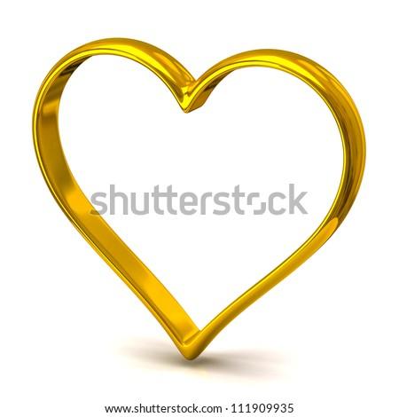 Heart shape wedding ring - stock photo
