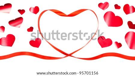 heart shaped background - stock photo
