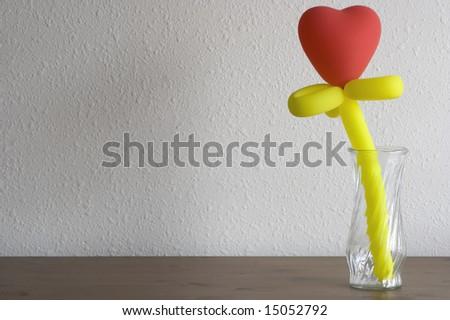 Heart-shaped balloon flower - stock photo