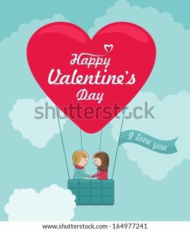 Heart shaped balloon. Romantic concept.  - stock photo