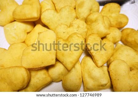 Heart Shaped Bread - stock photo