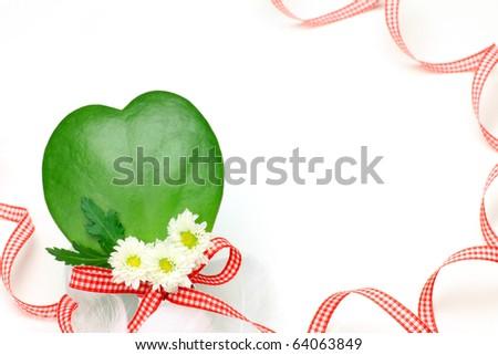 heart-shaped cactus - stock photo