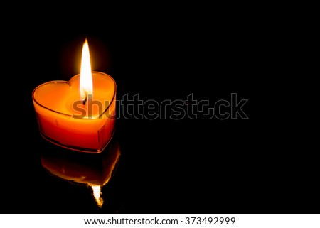 Heart-shaped candles Valentine's Day - stock photo