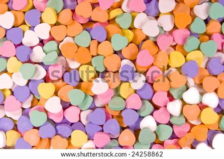 Heart-shaped candy - stock photo