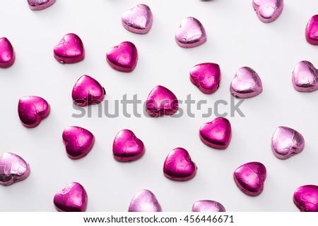 Heart-shaped chocolate - stock photo