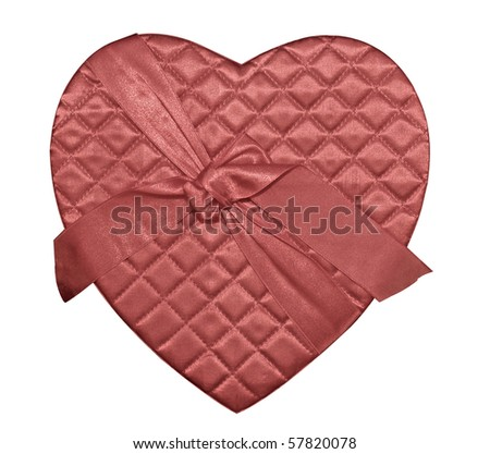 Heart shaped chocolate box cover