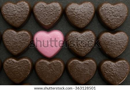 sôcôla hình trái tim cho ngày Valentine