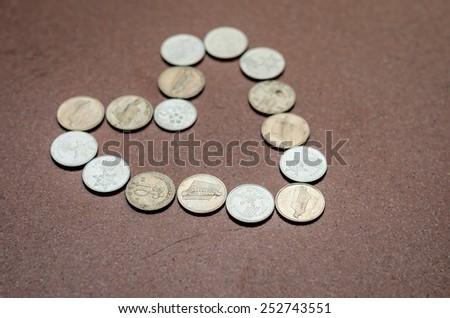 Heart Shaped Coins - stock photo