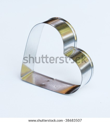 Heart shaped cookie cutter - stock photo