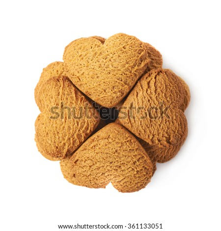 Heart shaped cookies composition