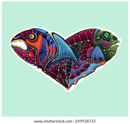 Heart-shaped fish for St. Valentine