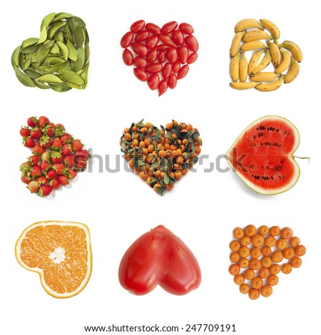 Heart-shaped fruits