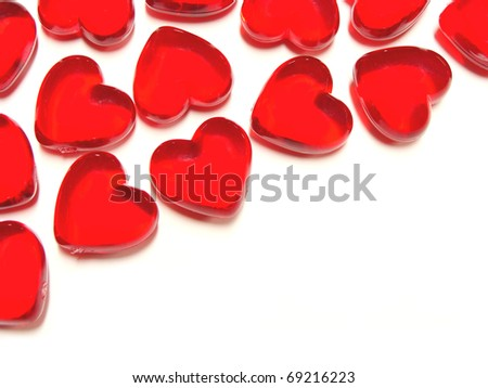 Heart-shaped gem background