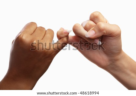 Heart shaped hand gesture, usual gesture in several countries to have a deal - stock photo
