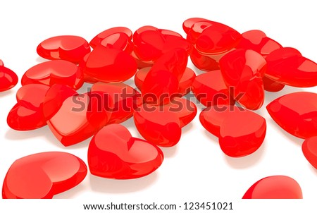 Heart shaped hard candies