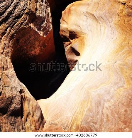 Heart Shaped Hole - stock photo