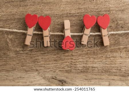 heart shaped pins - stock photo