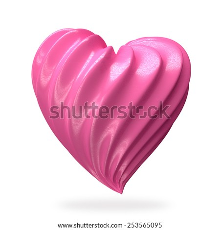heart shaped strawberry cream