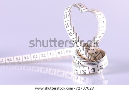 heart shaped tapeline - stock photo