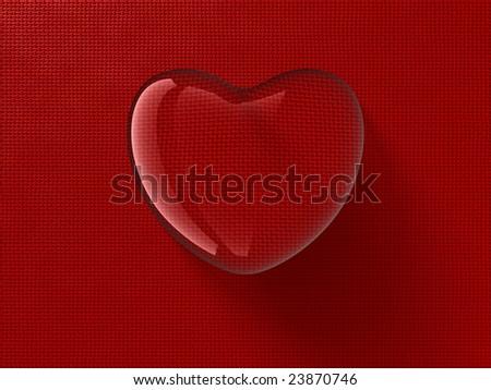 Heart-shaped water drop - stock photo