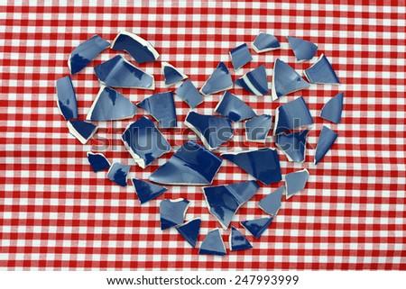 Heart shards - stock photo