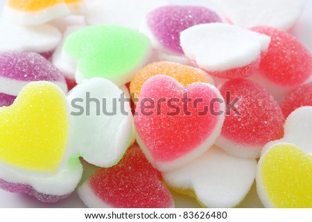 Heart sign jelly background - stock photo