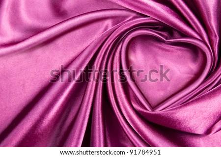 Heart silk - stock photo