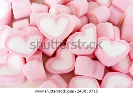 Heart sweet marshmallow for valentine's day - stock photo