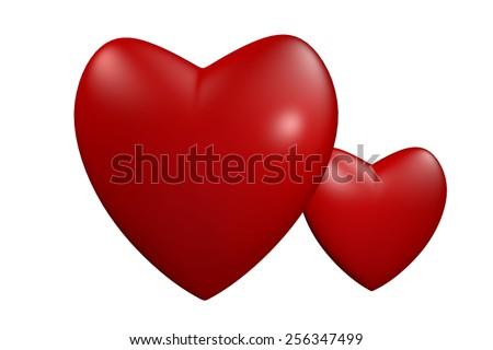Heart symbolizes love - stock photo