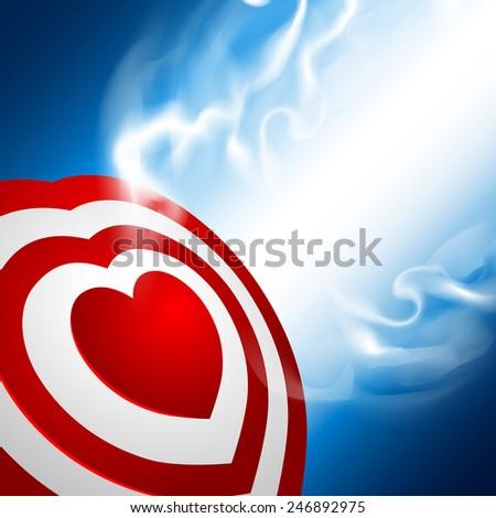 Heart target - stock photo