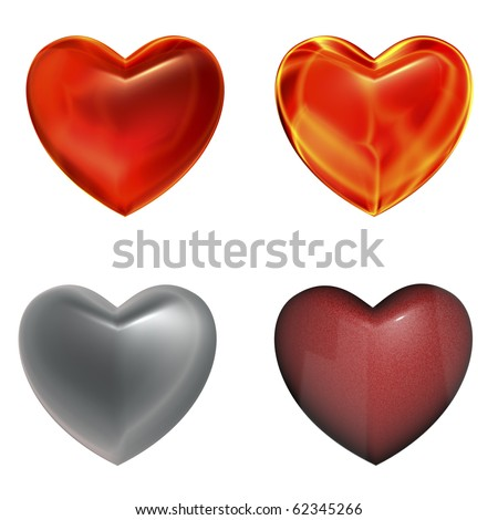 Heart three-dimensional Shape - stock photo