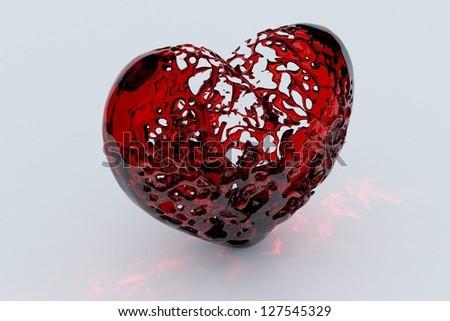 Heart Valentine's - stock photo