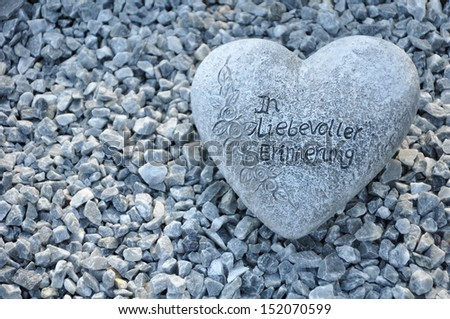 Heart with a farewell - stock photo