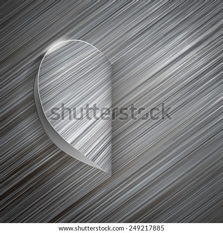 Heart with a metal surface on Valentine's Day - stock photo