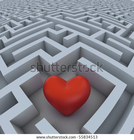 hearth in labyrinth - stock photo