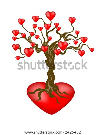 hearts and tree